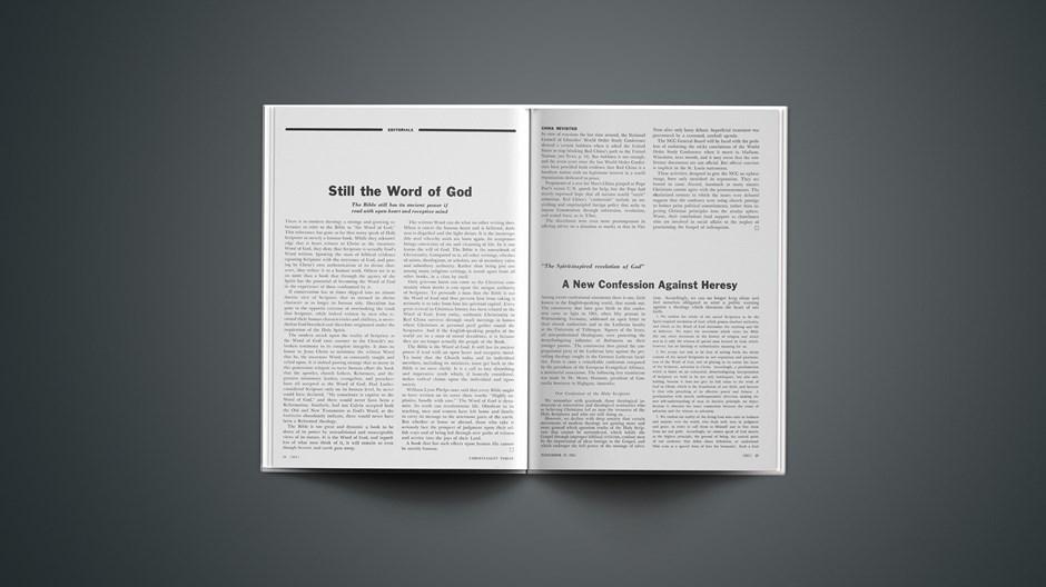 Still the Word of God