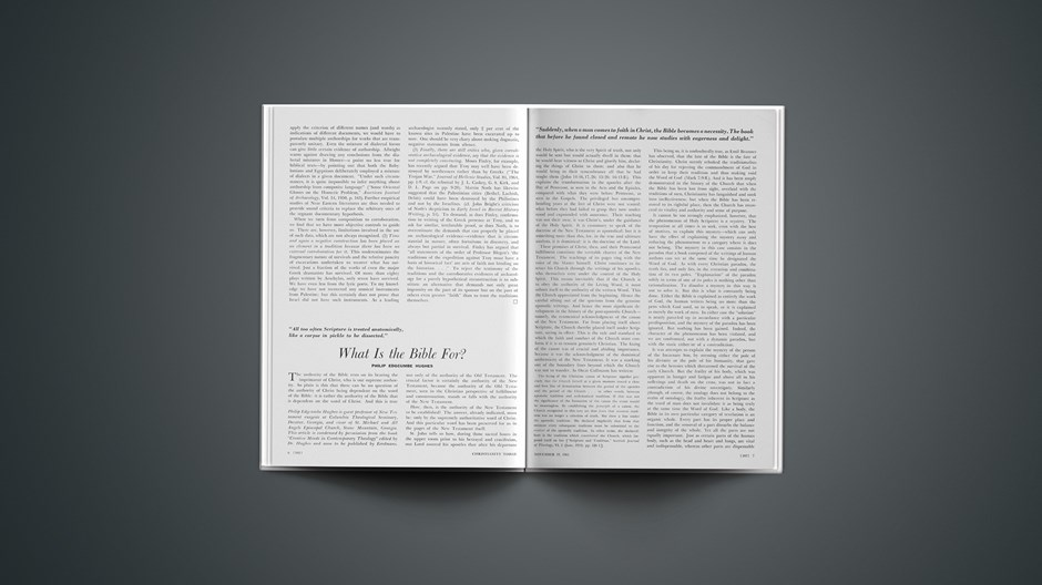 What Is the Bible For?