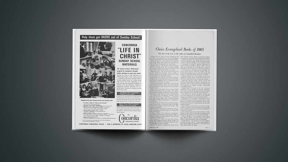 Choice Evangelical Books of 1965