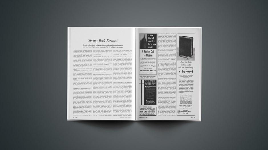 Spring Book Forecast February 04, 1966