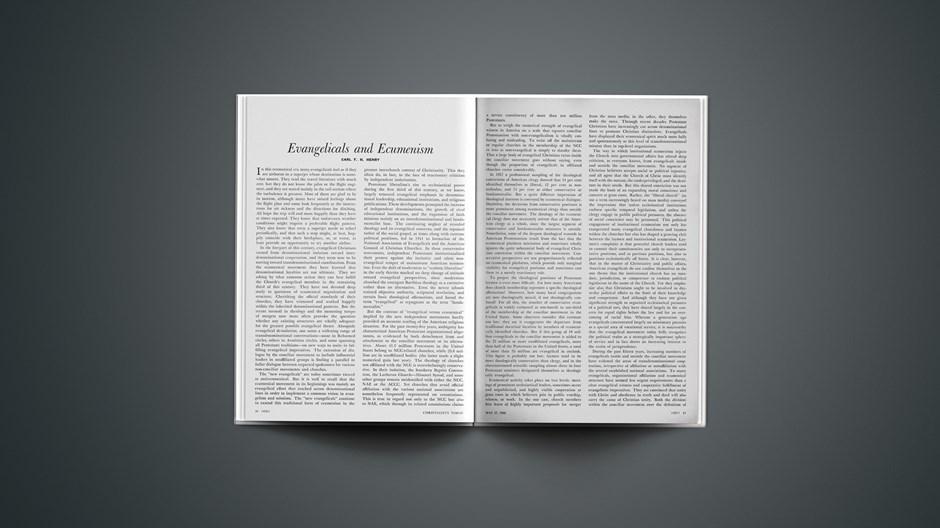 Evangelicals and Ecumenism