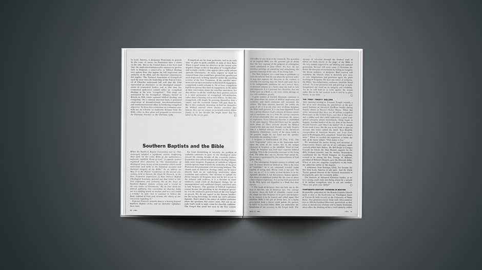 Southern Baptists and the Bible