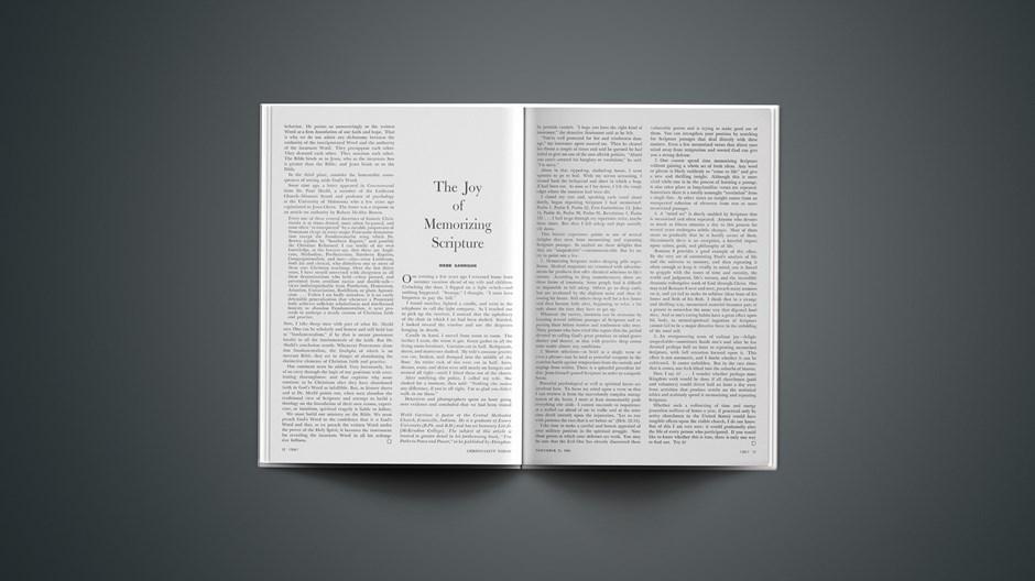 The Joy of Memorizing Scripture