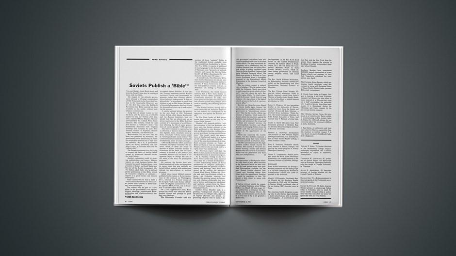 Soviets Publish a 'Bible'