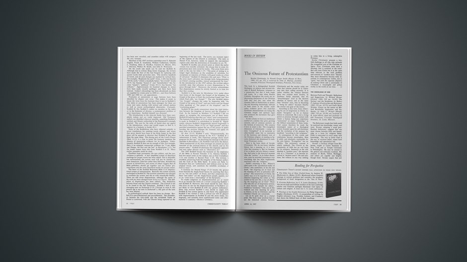 Changes in the Scofield Reference Bible