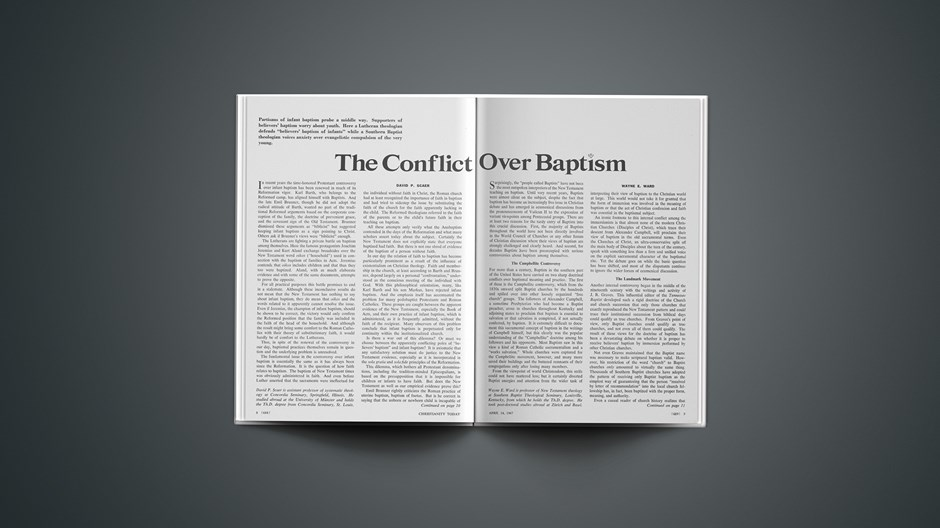 The Conflict over Baptism