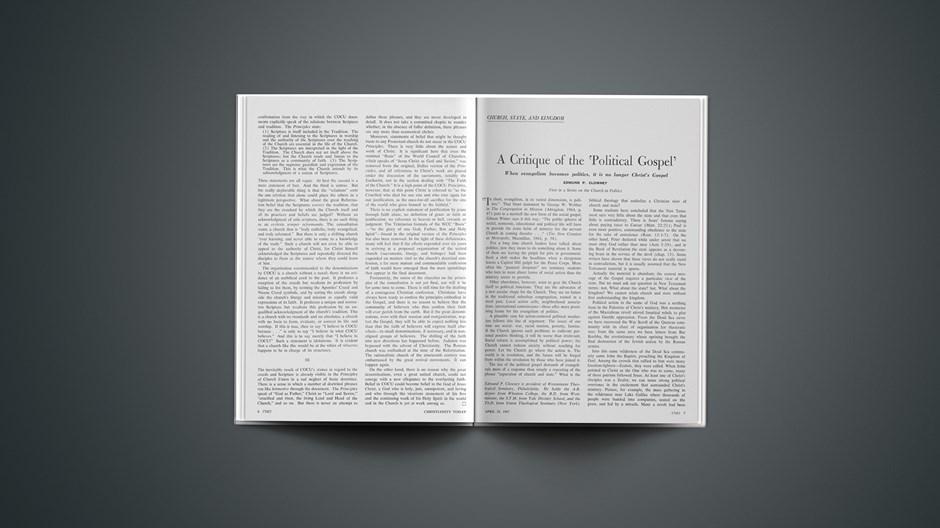 A Critique of the 'Political Gospel'