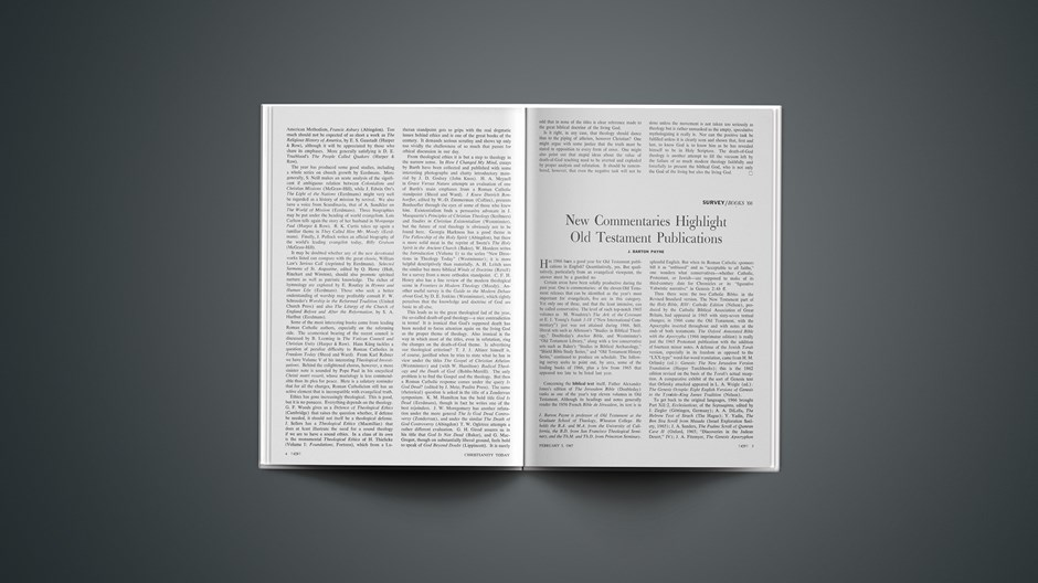 New Commentaries Highlight Old Testament Publications