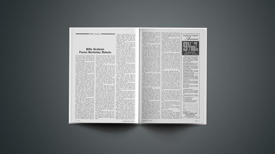 Billy Graham Faces Berkeley Rebels