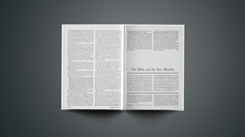 The Bible and the New Morality