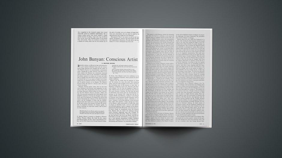 John Bunyan: Conscious Artist