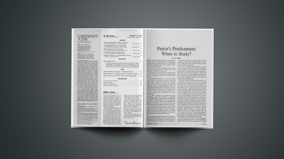 Pastor's Predicament: When to Study?