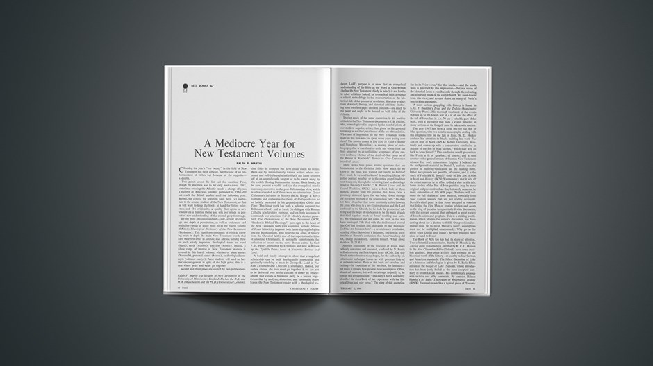 A Mediocre Year for New Testament Volumes