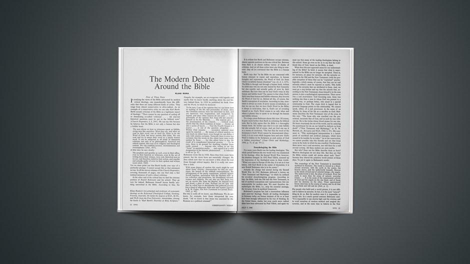 The Modern Debate around the Bible