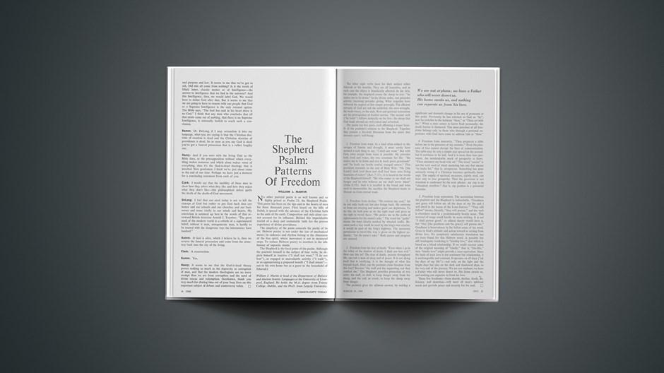 The Shepherd Psalm: Patterns of Freedom