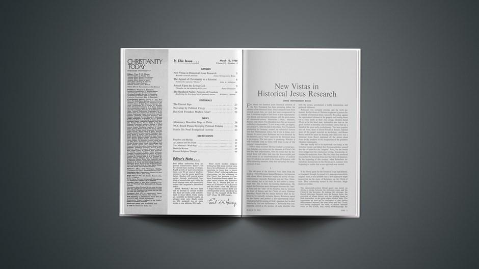 New Vistas in Historical Jesus Research
