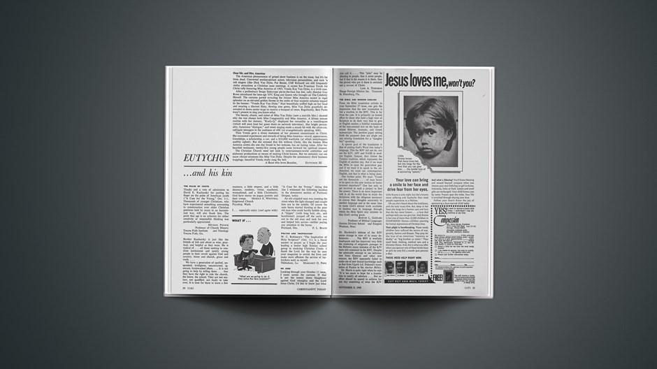 Eutychus and His Kin: November 8, 1968