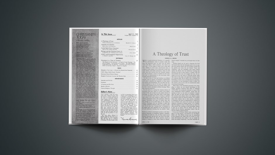 A Theology of Trust