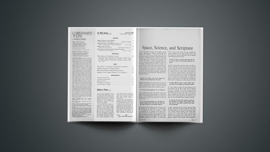 Space, Science, and Scripture