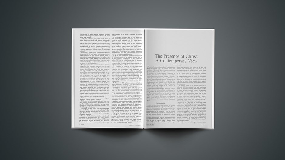 The Presence of Christ: A Contemporary View