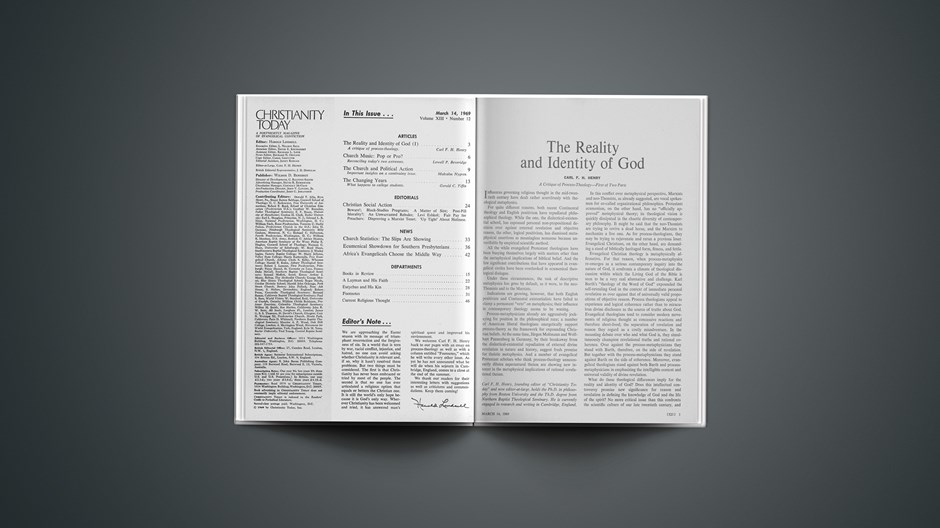 The Reality and Identity of God