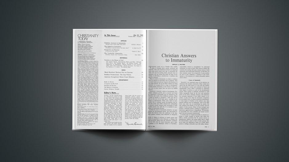 Christian Answers to Immaturity