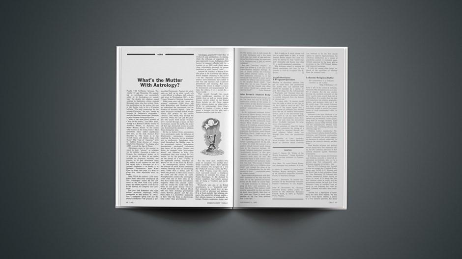 News Briefs from November 21, 1969