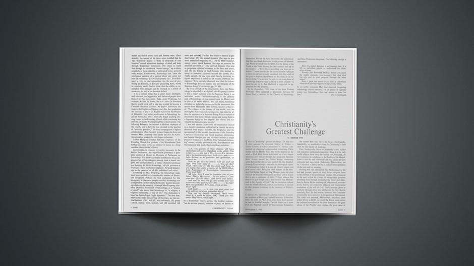 Christianity's Greatest Challenge