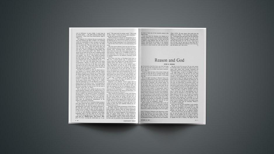 Reason and God