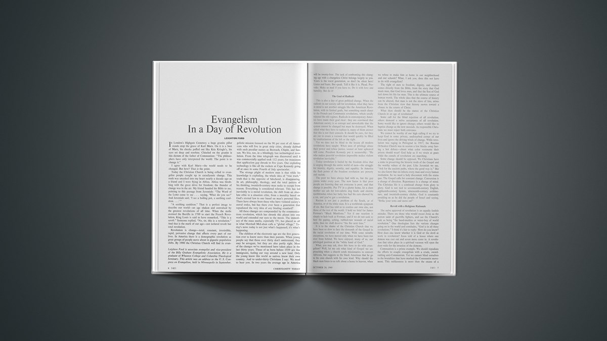 Evangelism in a Day of Revolution