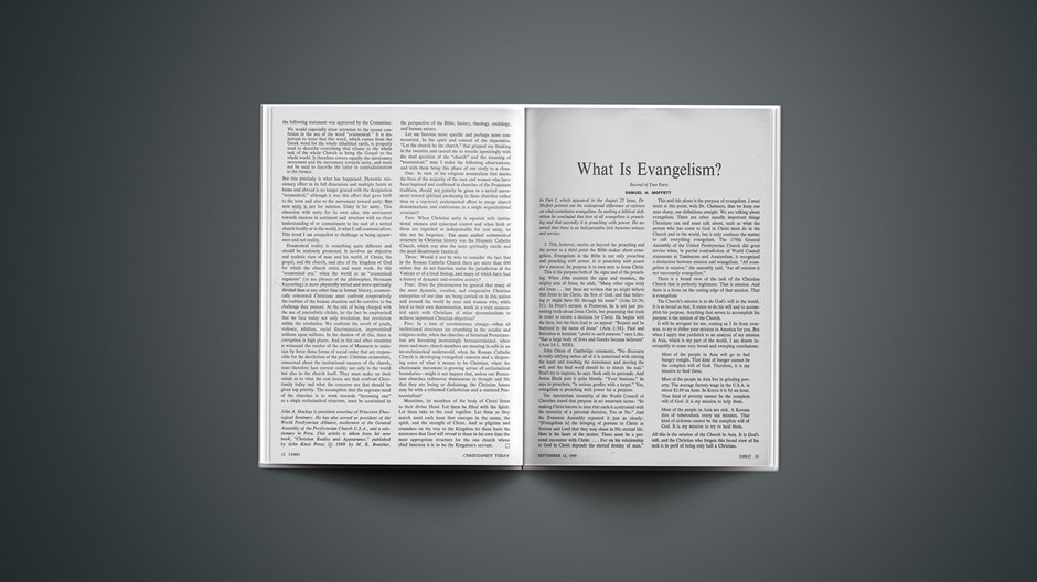 What Is Evangelism?: Second of Two Parts