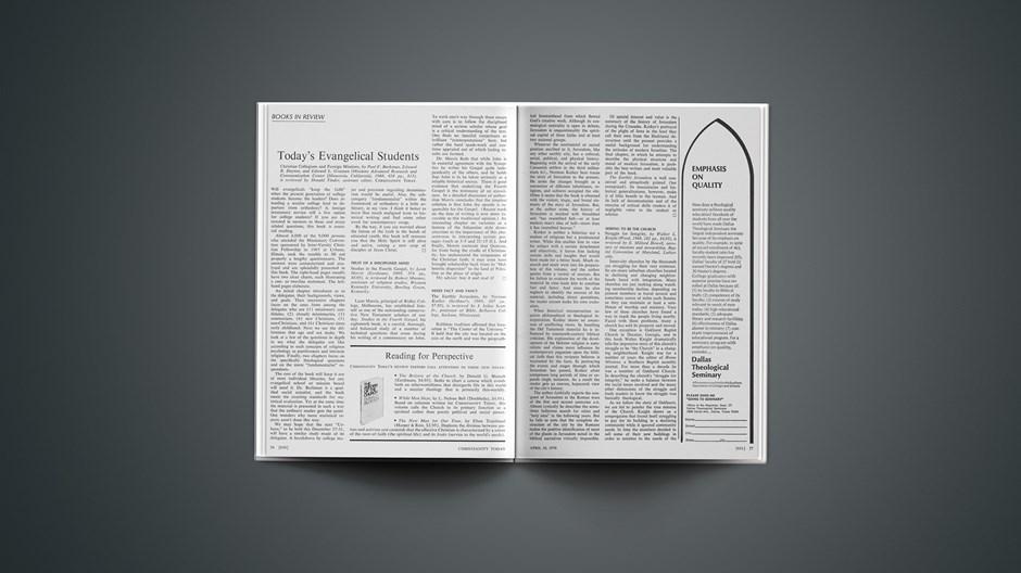 Book Briefs: April 10, 1970