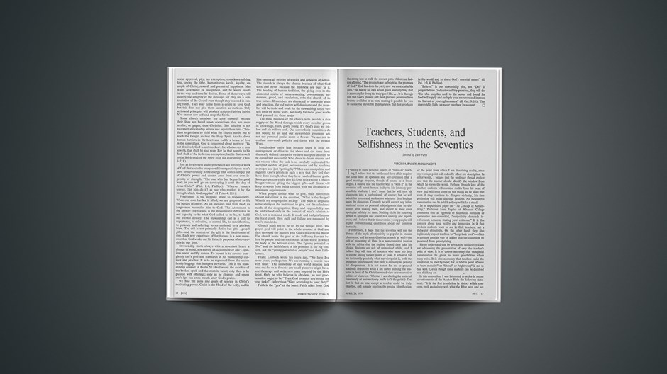 Teachers, Students, and Selfishness in the Seventies: Second of Two Parts