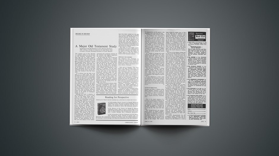 Book Briefs: April 24, 1970