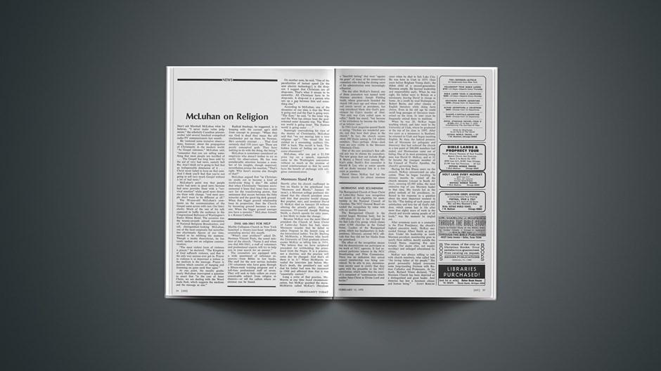 McLuhan on Religion