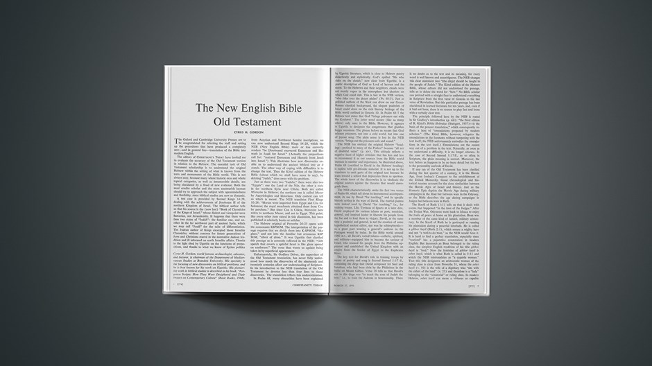 The New English Bible Old Testament