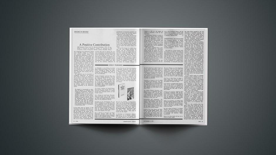 Book Briefs: November 6, 1970