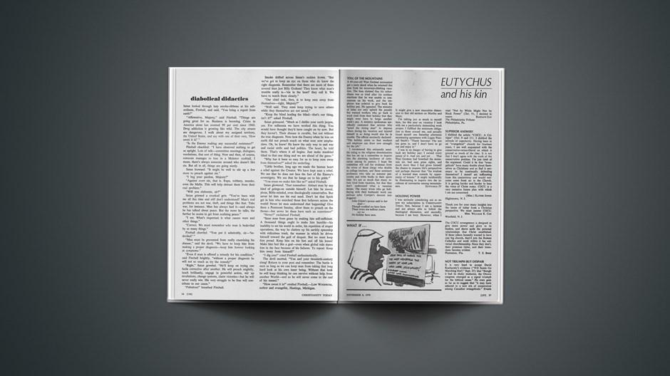 Eutychus and His Kin: November 6, 1970