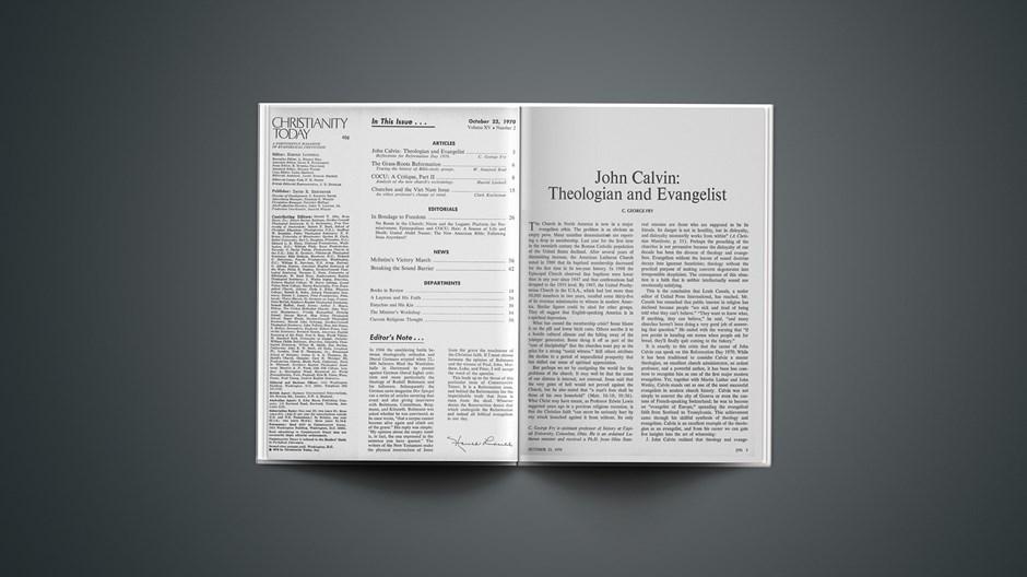John Calvin: Theologian and Evangelist