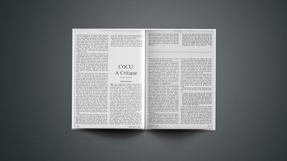 COCU: A Critique: Second of Two Parts