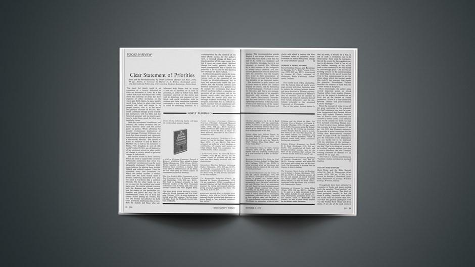 Book Briefs: October 9, 1970
