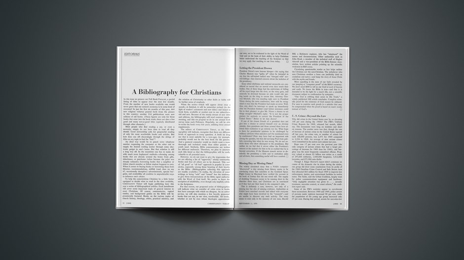 A Bibliography for Christians'