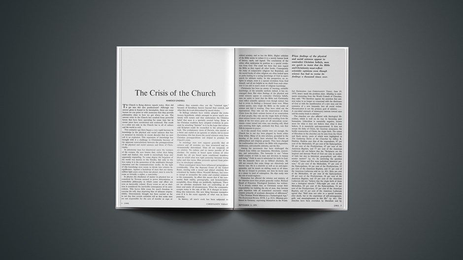 The Crisis of the Church