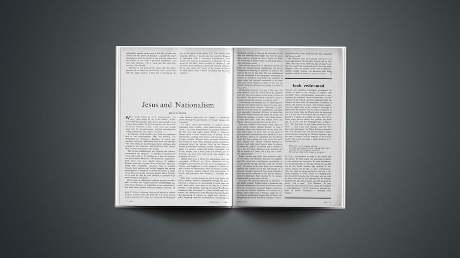 Jesus and Nationalism