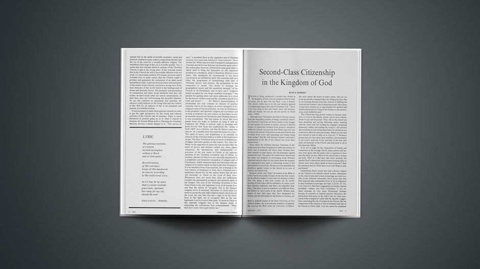 Second-Class Citizenship in the Kingdom of God