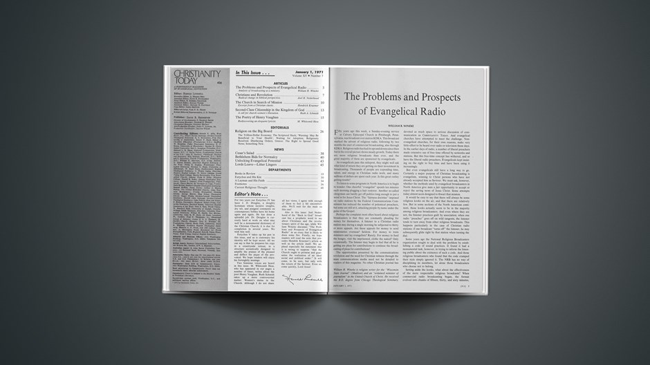 The Problems and Prospects of Evangelical Radio