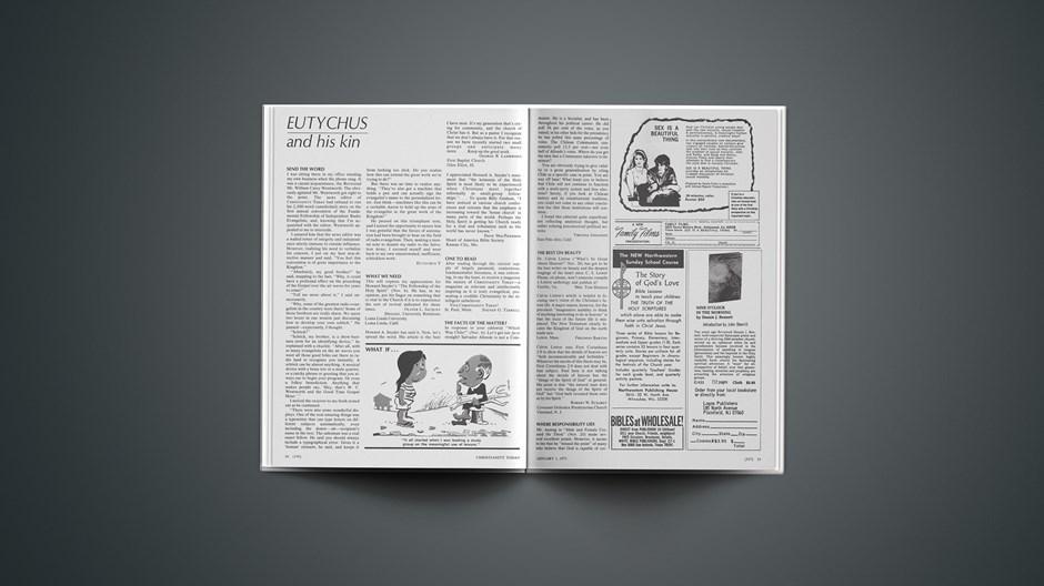Eutychus and His Kin: January 1, 1971