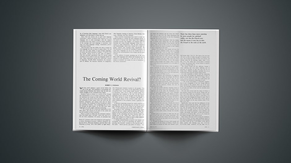 The Coming World Revival?