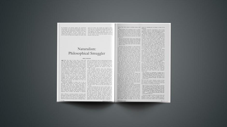 Naturalism: Philosophical Smuggler