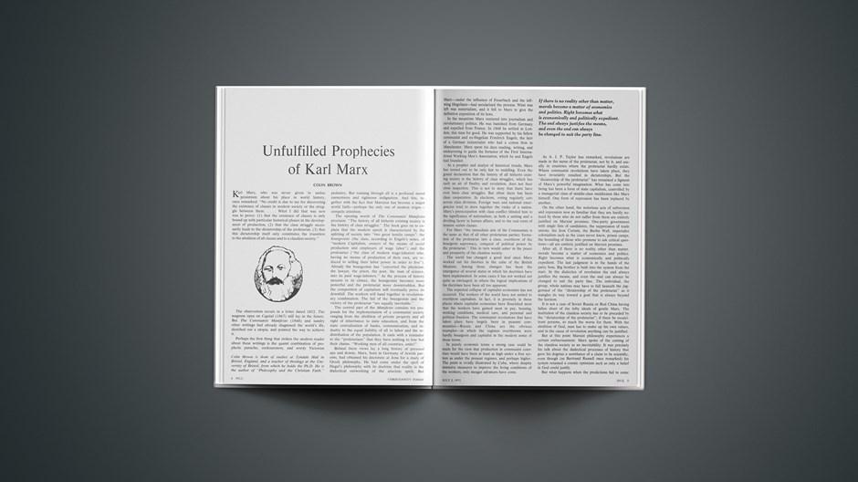 Unfulfilled Prophecies of Karl Marx